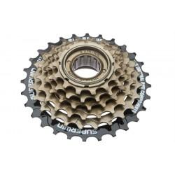 Трещотка KFW-664 6 скоростей, 14-28Т, сталь, чёрно-коричневая